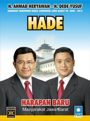 Pasangan HADE untuk Jabar 2008
