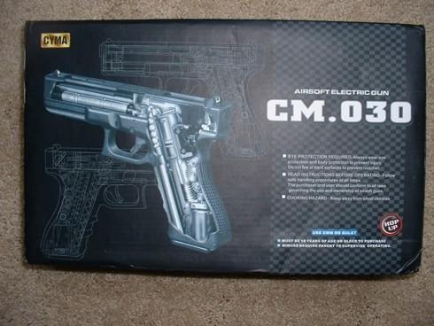 Elektrik pistol CM-030 replika Glock 18c