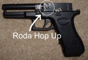 Roda Hop Up airsoft pistol cm-030