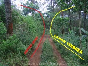 lokasi kaki bukit tempat skirmish dibelah jalur offroad