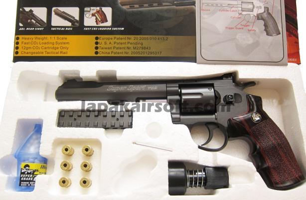 Win Gun Revolver 702 6inch black doff