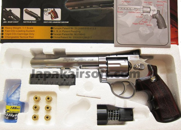 Win gun Revolver 702 6inch chrome