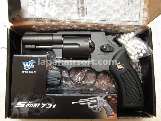Wingun Revolver 731 black