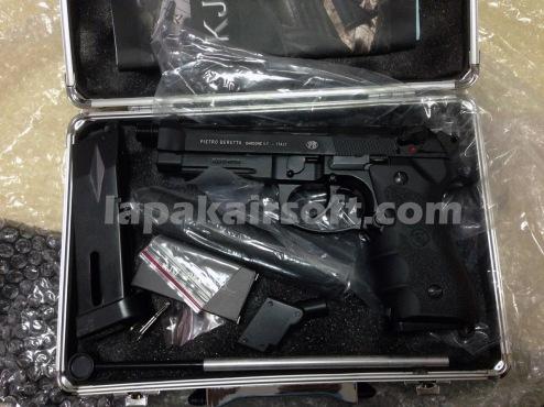 jual airsoft gun pistol Baretta KJW M9A1 special dual mag (2)