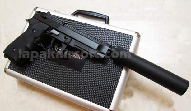 Jual airsoft gun KJW Beretta M9A1 Special with case