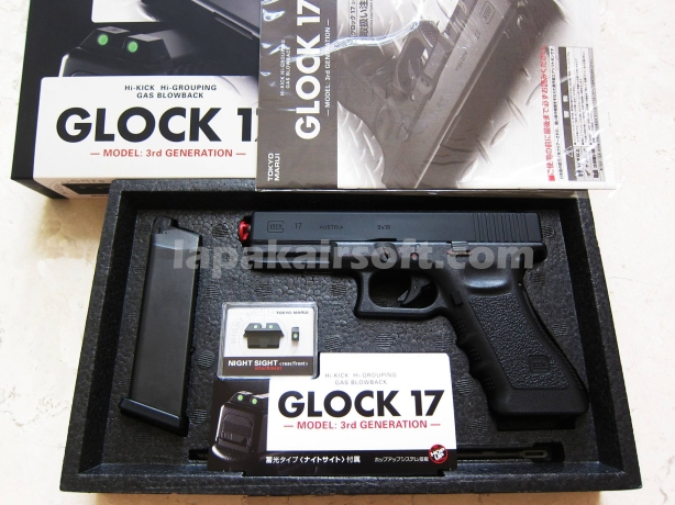 Jual pistol Airsoft Tokyo Marui Glock 17