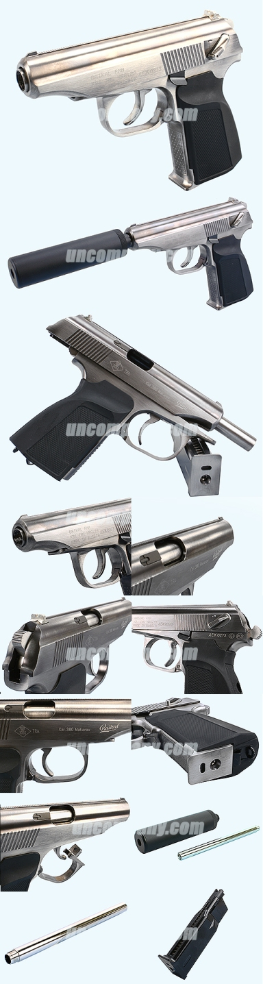 WE baikal makarov silver with silencer