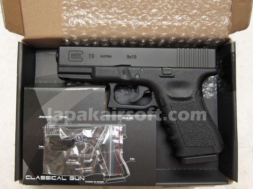 Jual airsoft gun pistol Win Gun Glock 19