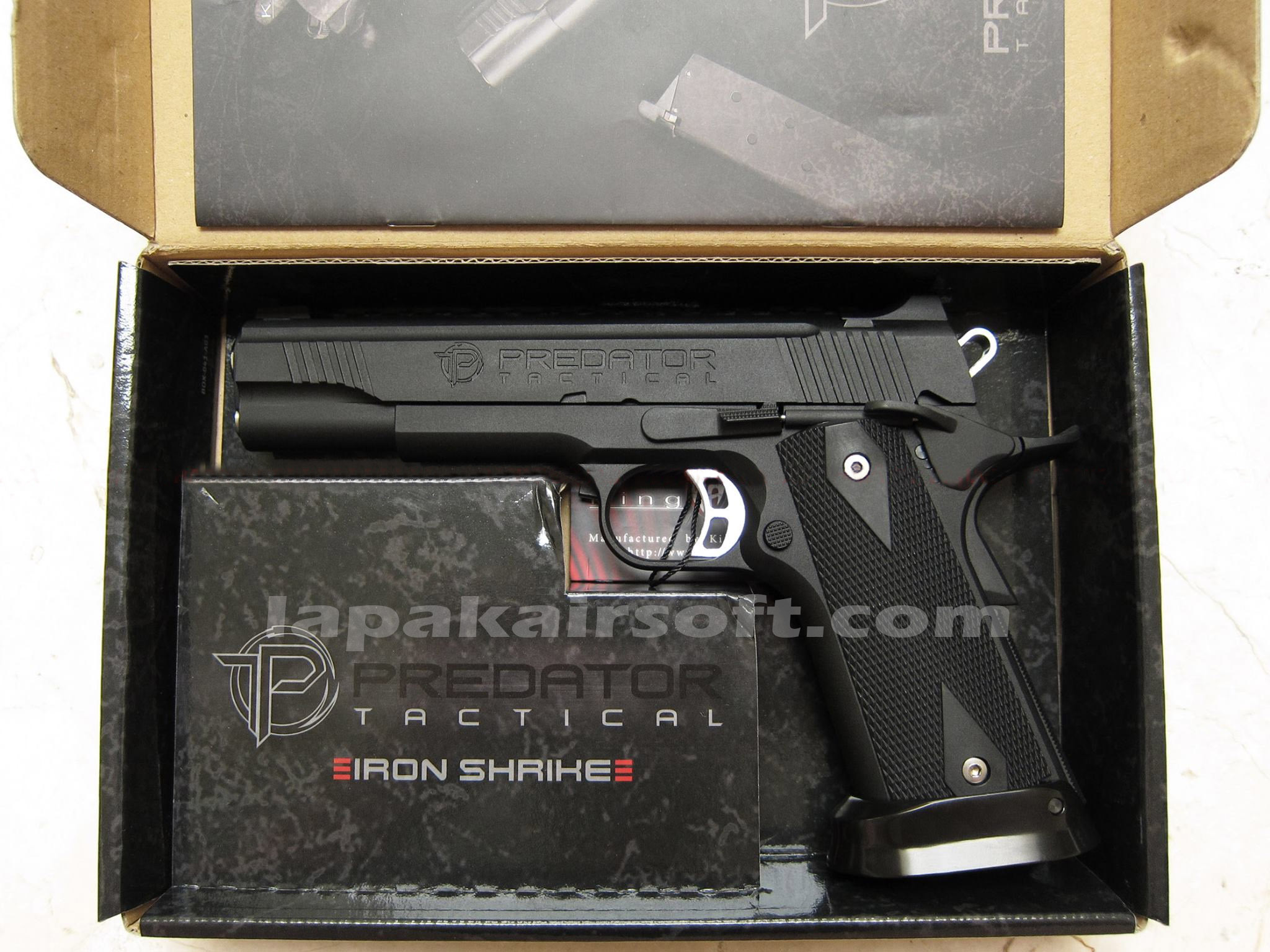 M1911 Jual Airsoft Gun Senapan Angin Pistol Replika Rcf Makarov King Arms Predator Tactical Iron Shrike Gas Blow Back Licensed