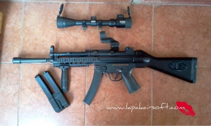 Jual Airsoft Second : JG MP5 RAS