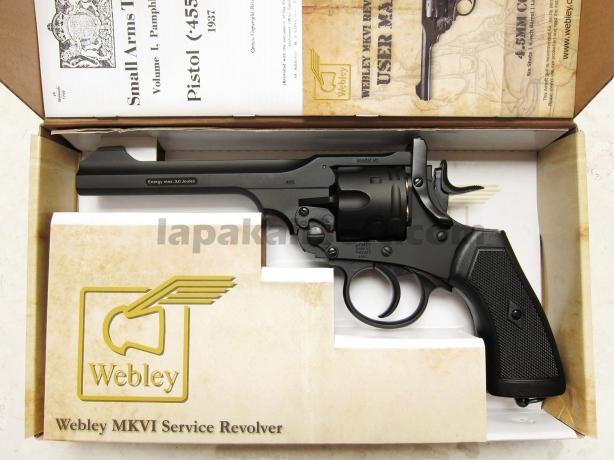 jual pistol airgun revolver Wingun Webley