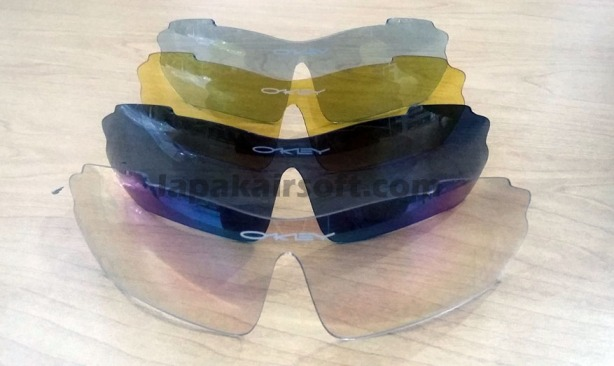Kacamata oakley 5 lensa