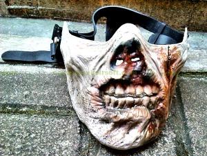 skull mask half face tan