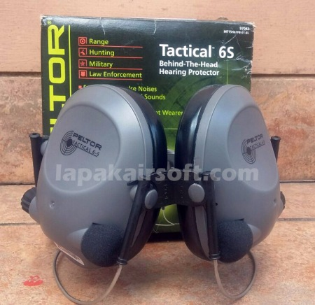 Peltor Tactical 6S Behind The Head