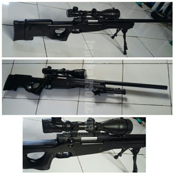 Jual airsoft gun second Well L96A1 glg